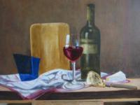 stilleven met wijnglas