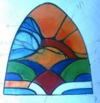 ontwerp voor glas in lood raam